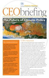 CEO Briefing on the Future of Climate Change Policy