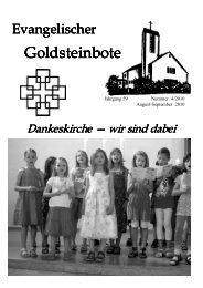 August - September 2010.pub - Dankeskirchengemeinde Goldstein