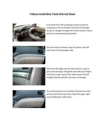 parrot car kit instructions