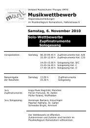 Vorspiel-Programm Romanshorn 2010 - Musikschulen Thurgau