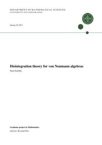 Disintegration theory for von Neumann algebras