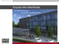Exposé Mini-Markthallen - Stadt Rosenheim