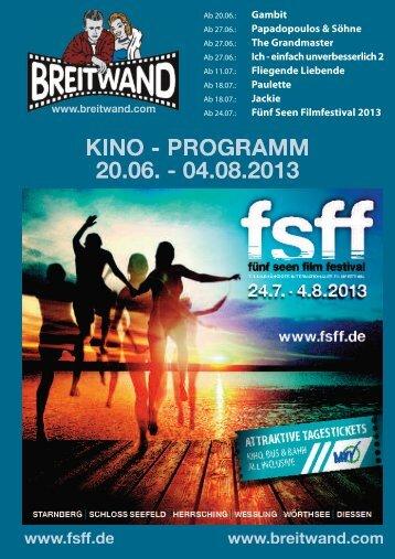 Erster Überblick über die Veranstaltungen - Fünf-Seen-Filmfestival