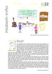 Hübeli-Info 22 - Schulen Emmen