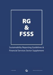 GRI Financial Services Sector Supplement - UNEP Finance Initiative