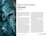 Monster Manual Update: Ghosts - Wizards of the Coast