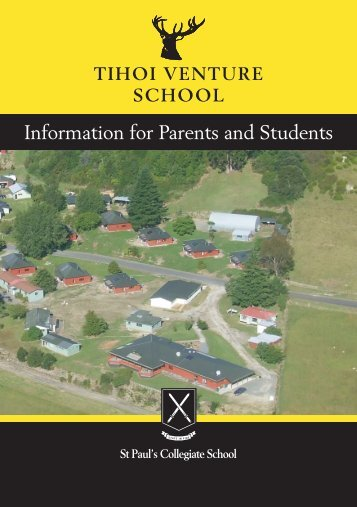 Tihoi information booklet - St Paul's Collegiate School