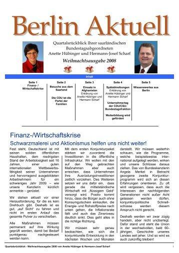 B ERLIN A KTUELL - CDU Saar
