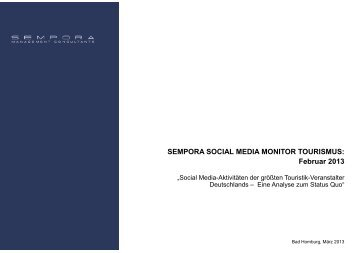 SEMPORA SOCIAL MEDIA MONITOR TOURISMUS - ITB Berlin ...