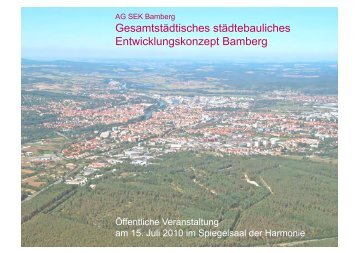 Gesamtstädtisches städtebauliches Entwicklungskonzept Bamberg