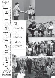 Gemeindebrief September 2013 - Evangelisch-Freikirchliche ...
