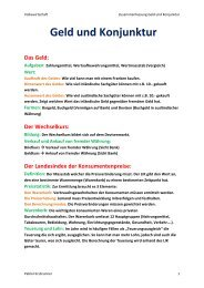Geld und Konjunktur - Lernender.ch