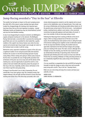 Over the Jumps - Issue 3 - New Zealand Thoroughbred Racing