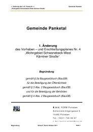 Begründung - der Gemeinde Panketal