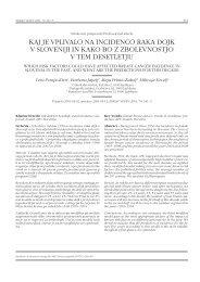 kaj je vplivalo na incidenco raka dojk v sloveniji in kako bo z ...