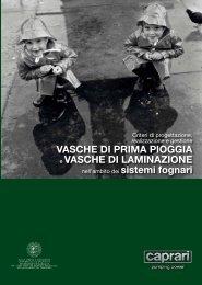 VASCHE DI PRIMA PIOGGIA e VASCHE DI LAMINAZIONE - Caprari