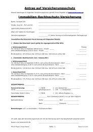 Antrag auf Versicherungsschutz Immobilien-Rechtsschutz ...
