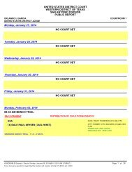 Wednesday, July 24, 2013 NO COURT SET Thursday, July 25, 2013 ...