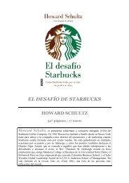 EL DESAFÍO DE STARBUCKS - Prisa Ediciones