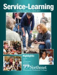Service-Learning - Northeast Wisconsin Technical College