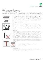 Verlegeanleitung mit UPM ProFi Wing Clip