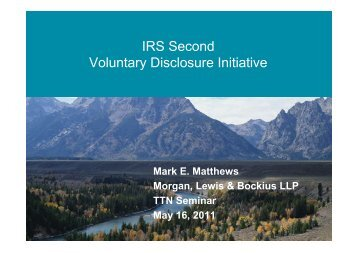 IRS Second Voluntary Disclosure Initiative