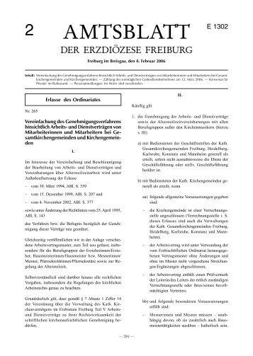 Amtsblatt Nr. 2 - Erzbischöfliches Ordinariat Freiburg