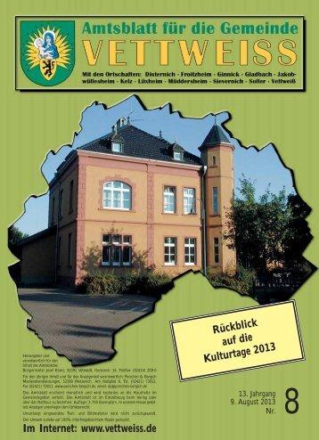 August 2013 - Gemeinde Vettweiß