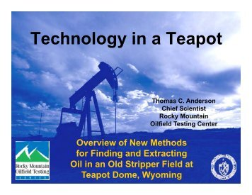 Technology in a Teapot - RMOTC