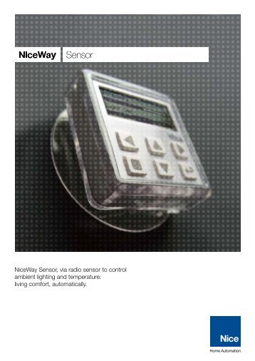 NiceWay Sensor (pdf) - Nice SpA