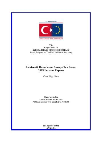 Elektronik Haberleşme Avrupa Tek Pazarı 2009 İlerleme Raporu