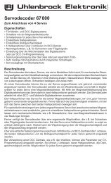 Servodecoder 67 800 - Uhlenbrock