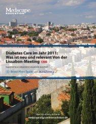 Diabetes Care im Jahr 2011: Was ist neu und relevant ... - Medscape