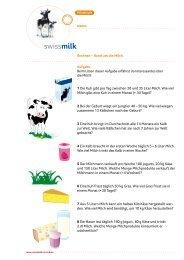 Rechnen rund um die Milch - Swissmilk