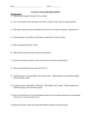 Printables Gattaca Worksheet Answers gattaca movie assignment answers dailynewsreport970 web fc2 com questions and greatness