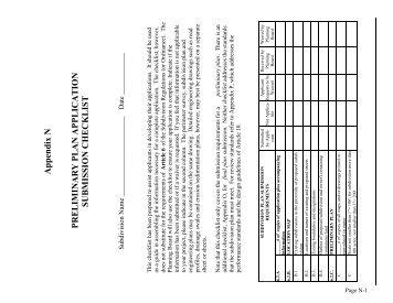 Appendix N Preliminary Checklist