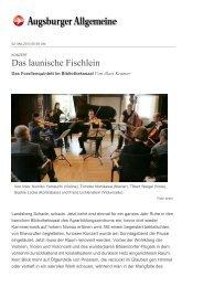 Konzert: Das launische Fischlein - Kammermusik im Bibliothekssaal