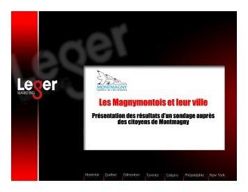 Consultez le sondage - Ville de Montmagny