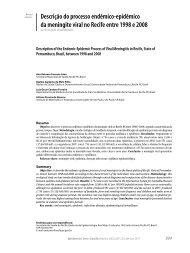 Descrição do processo endêmico-epidêmico da meningite viral no ...