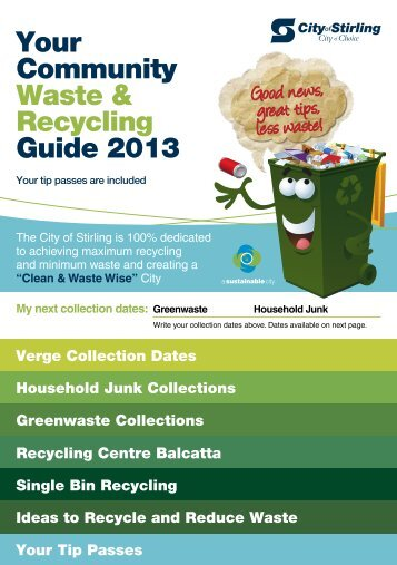 Waste and Recycling Guide 2013 - City of Stirling