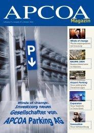 Apcoamagazin - APCOA - The World of Parking
