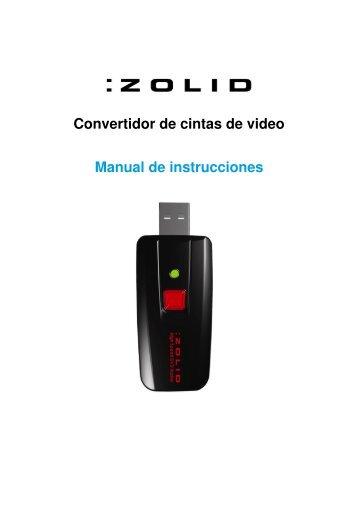 Convertidor de cintas de video Manual de instrucciones - Unisupport