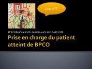 LA BPCO : une pathologie méconnue