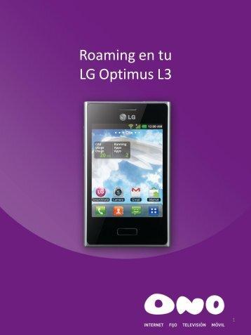 Activa el roaming en LG L3 - Ono