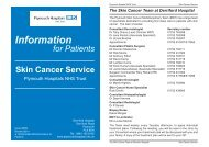 Skin Cancer Service - Plymouth Hospitals NHS Trust