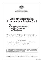 D2622 Claim for a Repatriation Pharmaceutical Benefits Card