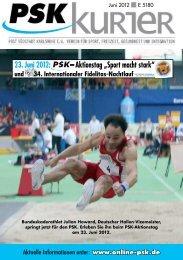 """23. Juni 2012: – Aktionstag """"Sport macht stark"""" - PSK"""