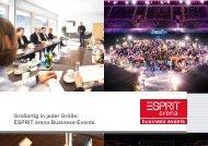 Platz für gute Kontakte. Business Events in der ESPRIT arena.