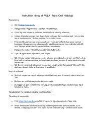 Instruktion i brug af AULA i faget Oral Histologi - Aarhus Universitet
