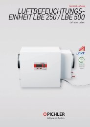 LBE 250-500, hygienezertifiziert - Pichler